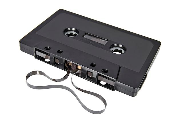 Cassete áudio retrô para gravador