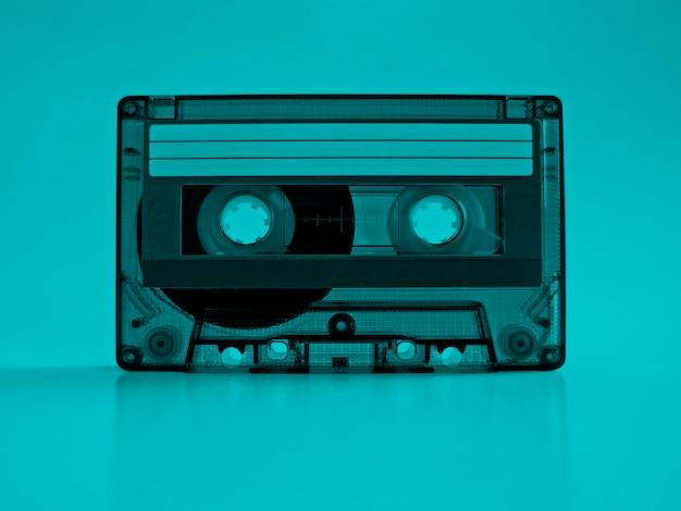 Cassete com efeito retro azul