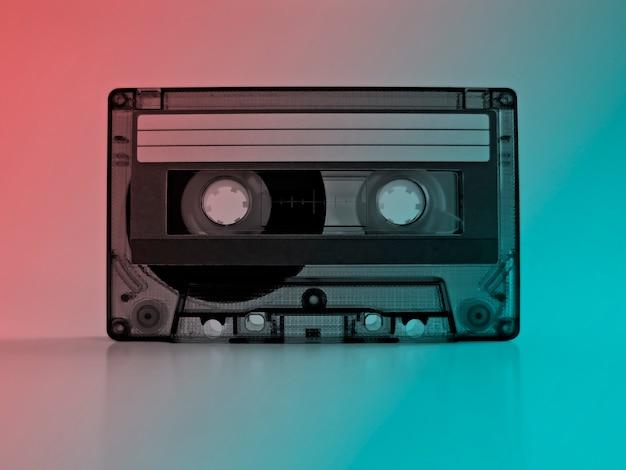 Cassete com efeitos de cor retro.
