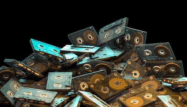Cassete de áudio de moda antiga