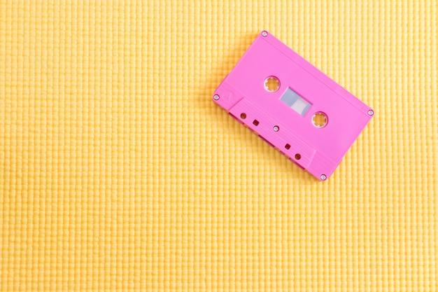 Cassete de fita magnética para gravação de música com espaço de cópia