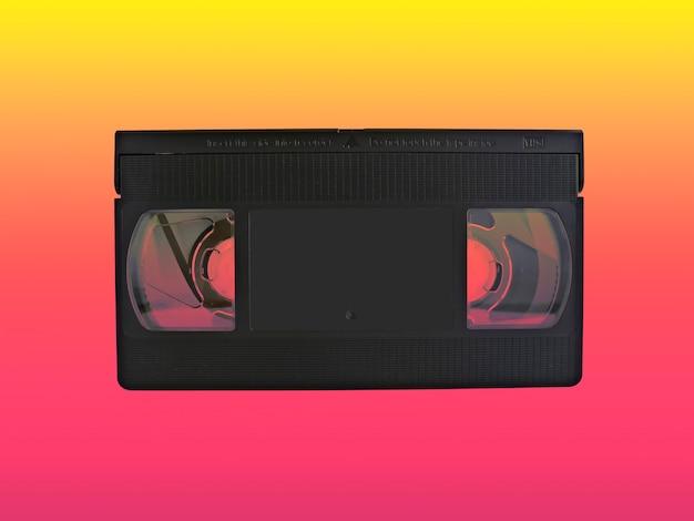 Cassette vhs com vários efeitos de cores