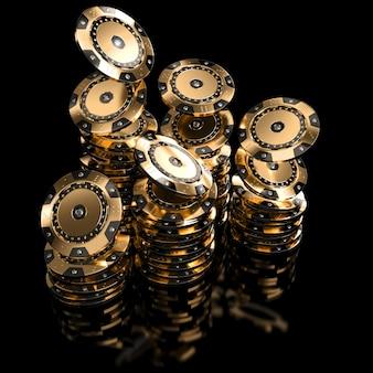 Cassino dourado da microplaqueta
