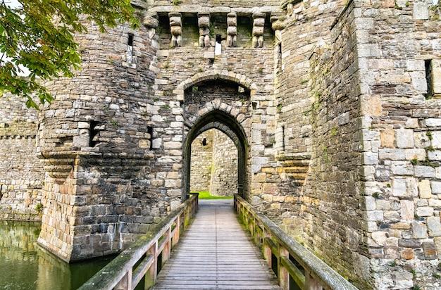 Castelo de beaumaris, patrimônio mundial da unesco no país de gales, grã-bretanha