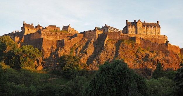 Castelo de edimburgo em edimburgo, alta resolução
