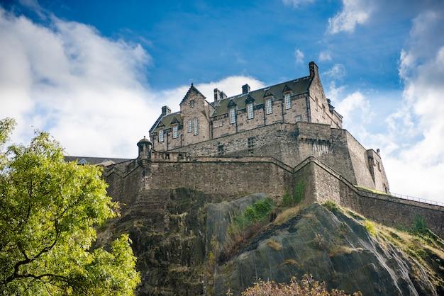 Castelo de edimburgo, na escócia, reino unido