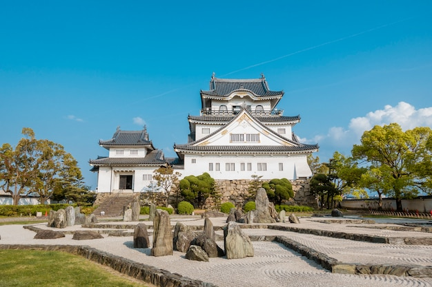Castelo de kishiwada na cidade de kishiwada, osaka
