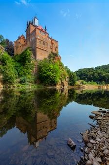 Castelo de kriebstein na saxônia, alemanha