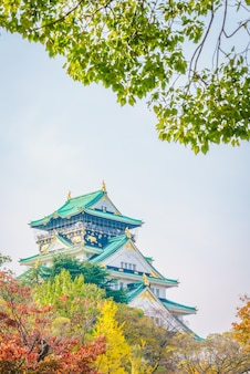 Castelo de osaka em osaka japão