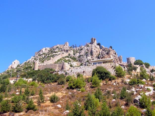Castelo de st. hilarion, chipre do norte, castelo de st. hilarion, turquia