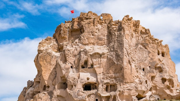 Castelo de uchisar. capadócia, província de nevsehir, turquia