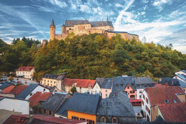 Castelo de vianden, luxemburgo