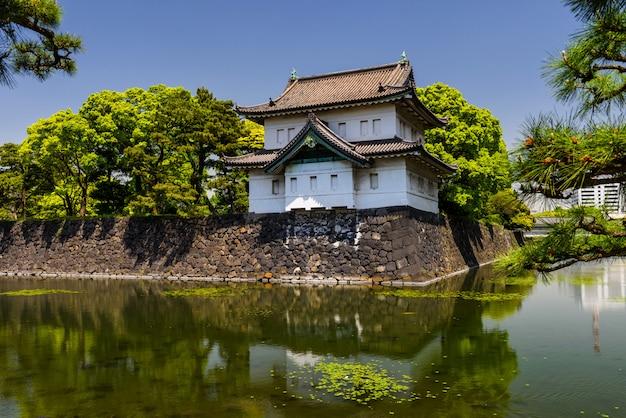 Castelo do palácio imperial com reflexão
