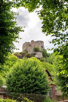 Castelo gaillard na normandia, frança
