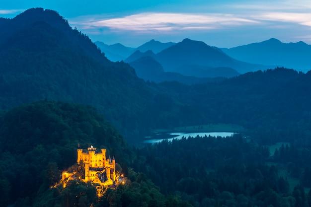 Castelo hohenschwangau, em, fussen, bavaria, alemanha