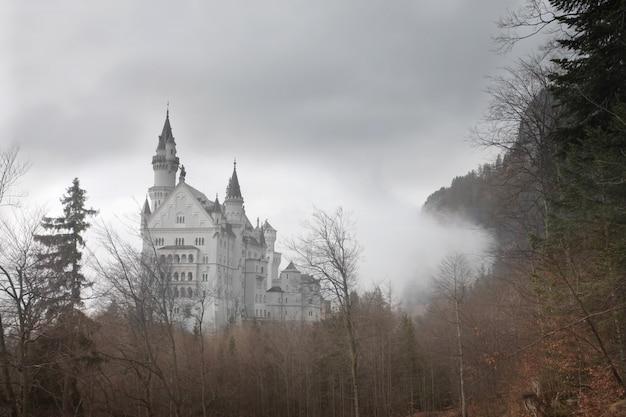 Castelo nevoento no inverno