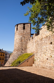 Castelo templário em ponferrada, espanha