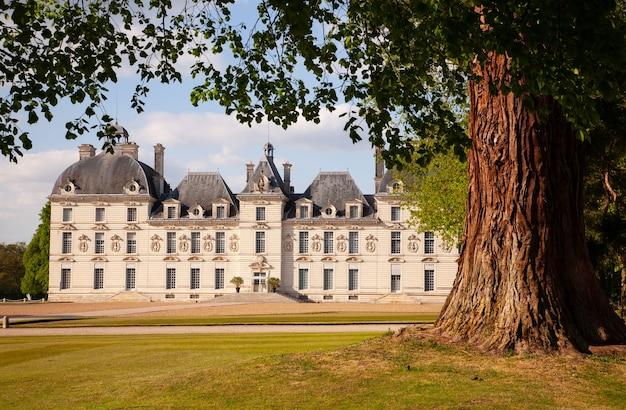 Castles of loire valley - cheverny elegante com um belo parque.