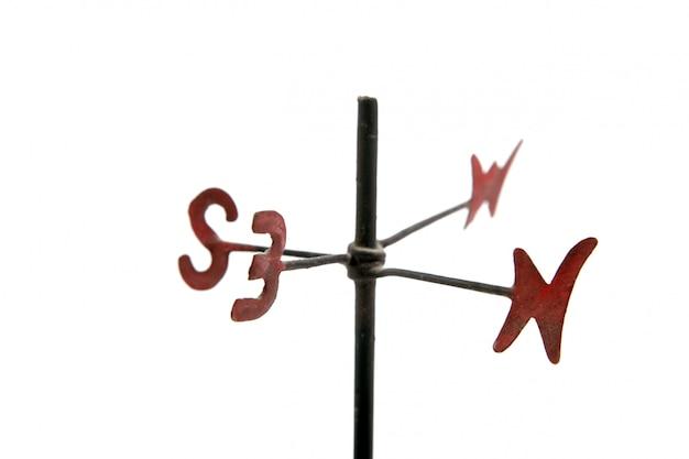 Cata-vento com quatro pontos cardeais nsew