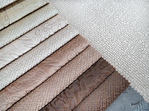 Catálogo de amostras coloridas de tecidos para fabricação de móveis coleção de tecidos para móveis