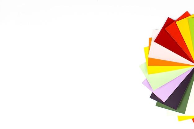 Catálogo de amostras de cores do arco-íris. espectro da tabela de cores do designer.