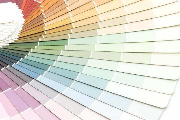 Catálogo de cores da amostra pantone