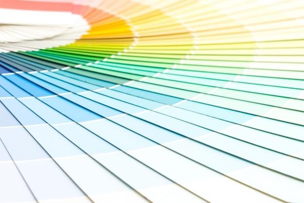 Catálogo de cores da amostra