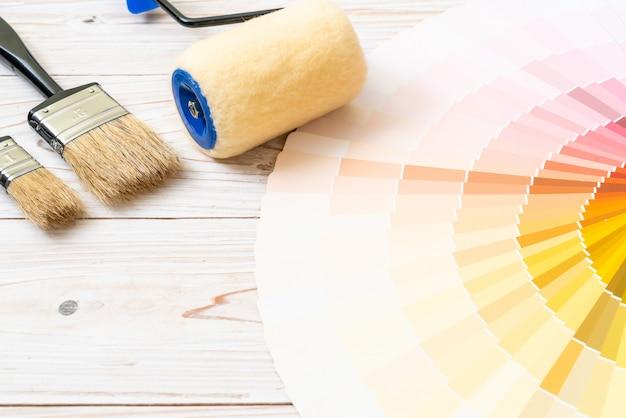 Catálogo de cores de amostra pantone ou livro de amostras de cor