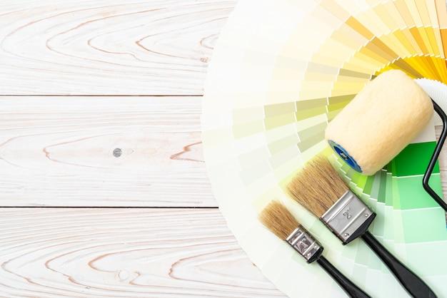 Catálogo de cores de amostra pantone ou livro de amostras de cores