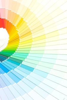 Catálogo de cores de amostra pantone