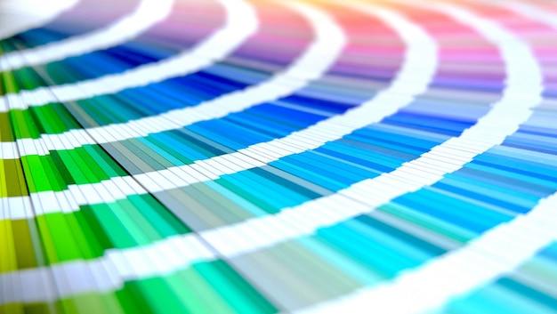 Catálogo de cores de amostra