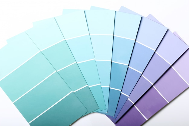 Catálogo ou esquema da paleta de cores