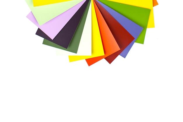 Catálogos de tintas com paleta de cores diversas. amostra de cor banco de imagens.