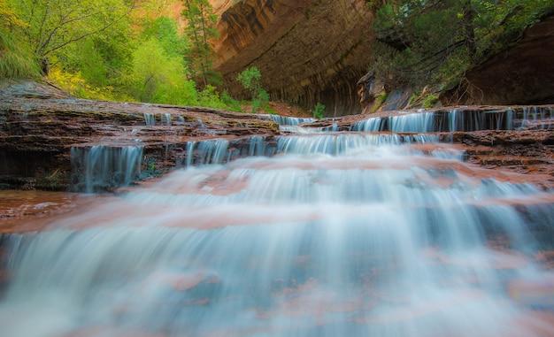 Cataratas do arcanjo, parque nacional de zion, utah