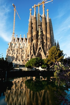 Catedral da sagrada família em barcelona