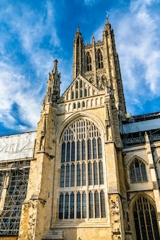 Catedral de canterbury, patrimônio mundial em kent, inglaterra