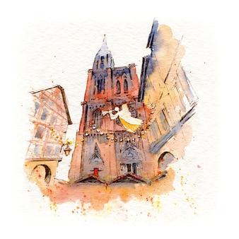 Catedral de estrasburgo, alsácia, frança