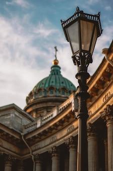 Catedral de kazan em são petersburgo, excelente arquitetura, monumento histórico
