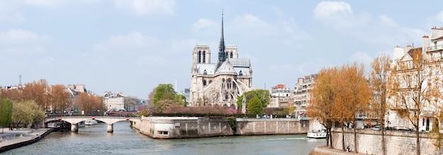 Catedral de paris notre dame panorama