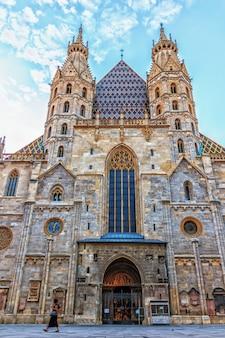 Catedral de santo estêvão, entrada principal, viena, áustria