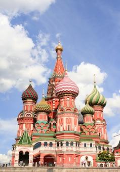 Catedral de st basils na praça vermelha de moscou