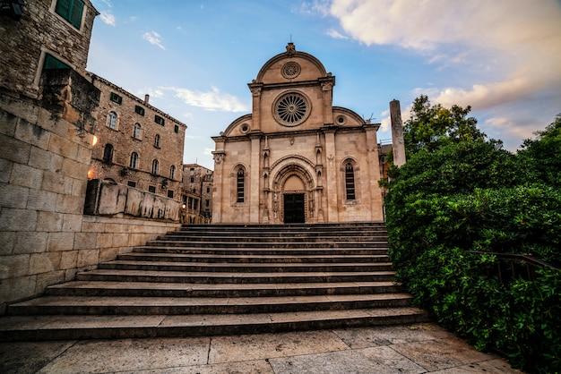 Catedral de st. james em sibenik na croácia