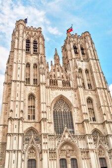 Catedral de st. michael e st. gudula é uma igreja católica romana em bruxelas, bélgica.