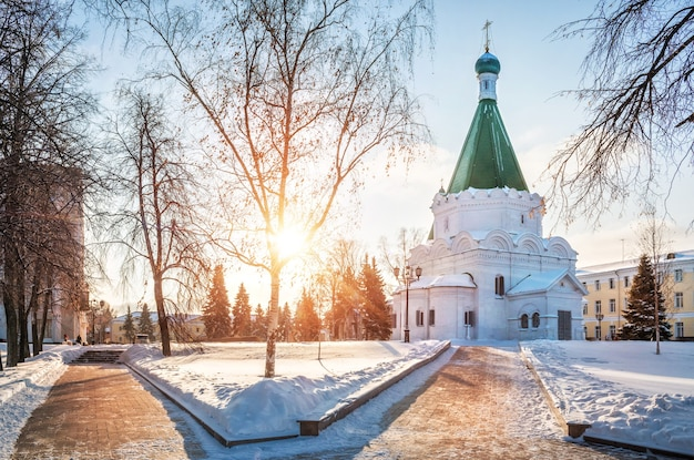 Catedral do arcanjo no kremlin de nizhny novgorod