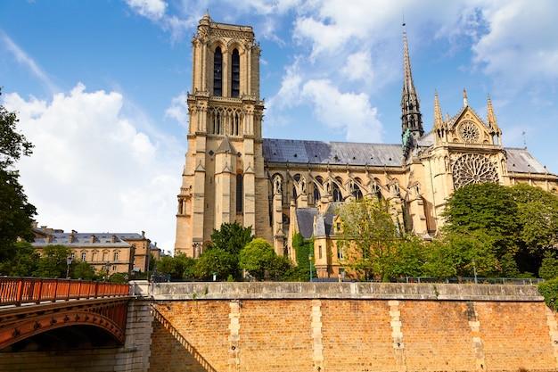 Catedral notre dame, em, frança paris