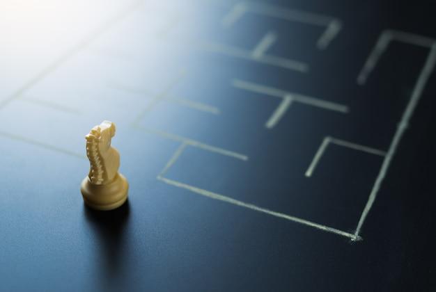 Cavaleiro xadrez no labirinto entrar