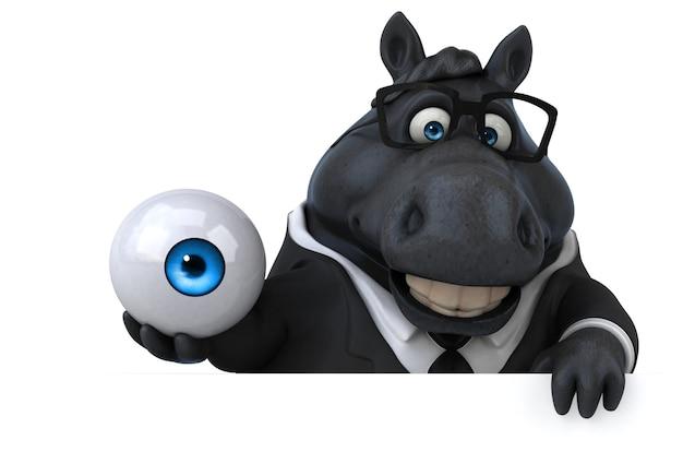 Cavalo divertido - ilustração 3d