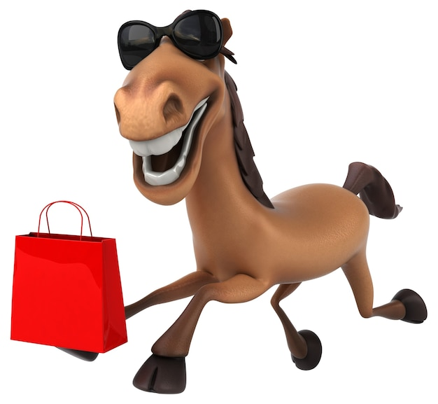 Cavalo divertido