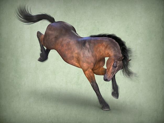 Cavalo marrom bonito renderização em 3d