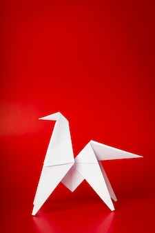 Cavalo novo papel de origami ano de 2014
